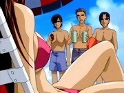 Superlicious anime in hot bikini gets banged doggy